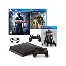 "PS4 Slim w/""Uncharted 4,"" ""Bloodborne"" & ""Titanfall 2"""