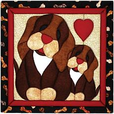 Puppy Love Quilt Magic No Sew Wall Hanging Kit