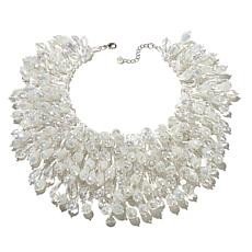 Rara Avis by Iris Apfel Beaded White Waterfall Necklace