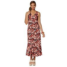 Slinky® Brand Sleeveless Maxi Dress with Flounce Hem