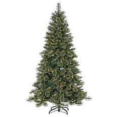 Sterling 7-1/2' Glitter Pine Lighted Christmas Tree