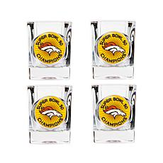 Super Bowl 50 Champs Set of 4 Collector's Shot Glasses