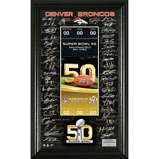 Super Bowl 50 Framed Replica Ticket/AFC Team Signatures