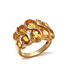Technibond® 3.2ctw Graduated Citrine S-Ring