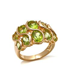 Technibond® 3.68ct Graduated Peridot S-Ring