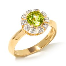 Technibond® Diamond-Accent Round Gemstone Ring
