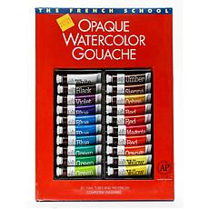 The French School Opaque Watercolor Gouache 20-Tube Set