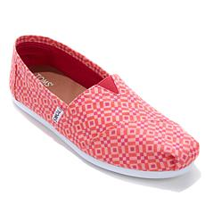 TOMS Classic Canvas Tile Print Slip-On