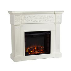Vercelli Electric Fireplace - Ivory