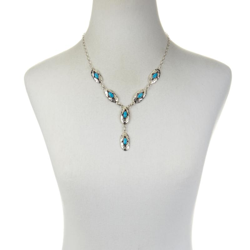 Chaco Canyon Sleeping Beauty Turquoise Sterling Silver Necklace and Earrings Se   8023076