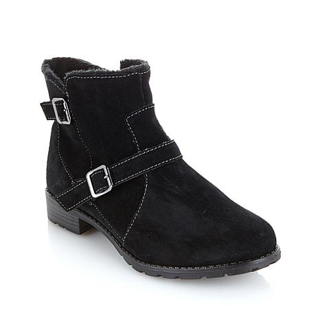 Sporto® Suede Ankle Boot with Buckle Detail