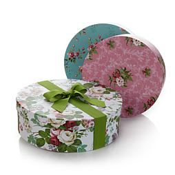 Anna Griffin® Floral Pattern 3pc Hat Box Photo Storage