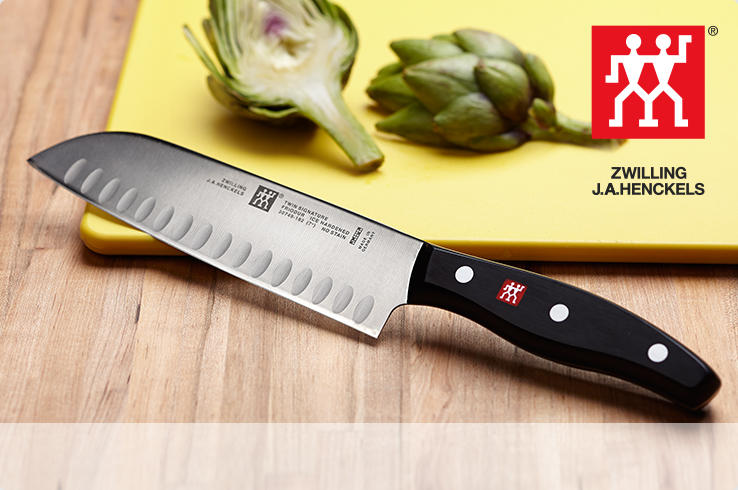Zwilling J. A. Henckels. A high carbon stainless steel santoku knife