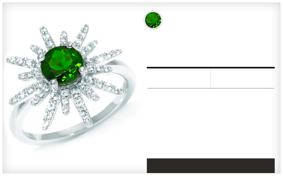 A Chrome Diopside ring