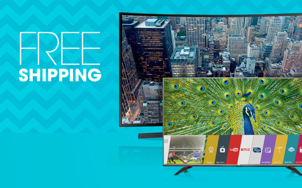 Free shipping on all TVs all the time
