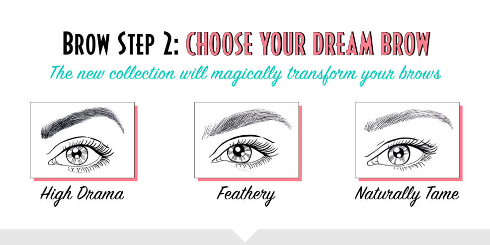 Brow step 2: choose your dream brow. The new collection will magically transform your brows