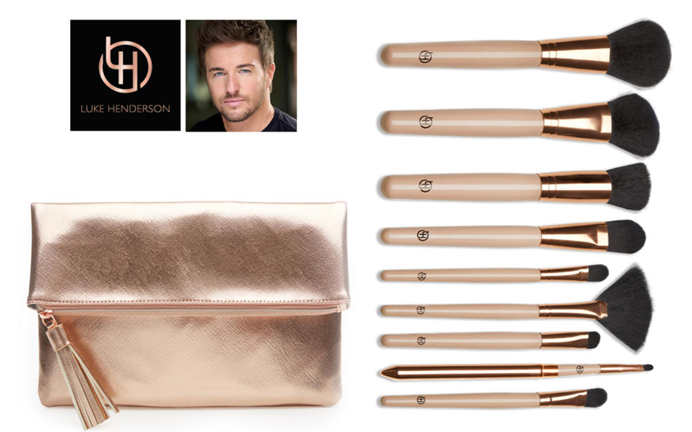 Luke Henderson. Makeup brushes and case.