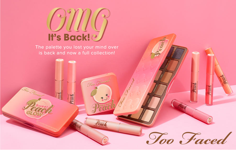 Too Faced Cosmetics Amp Makeup New Peach Palette Hsn