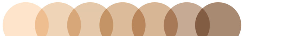 Circles in the shades of foundation