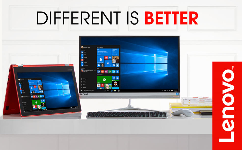 Different is better. Lenovo Computers