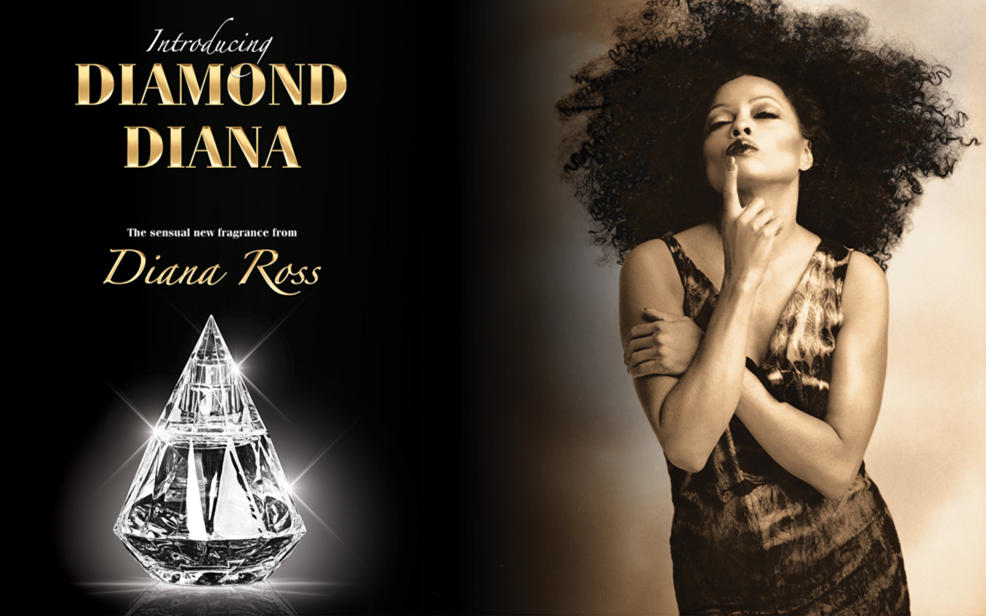 Introducing Diamond Diana. The sensational new fragrance from Diana Ross