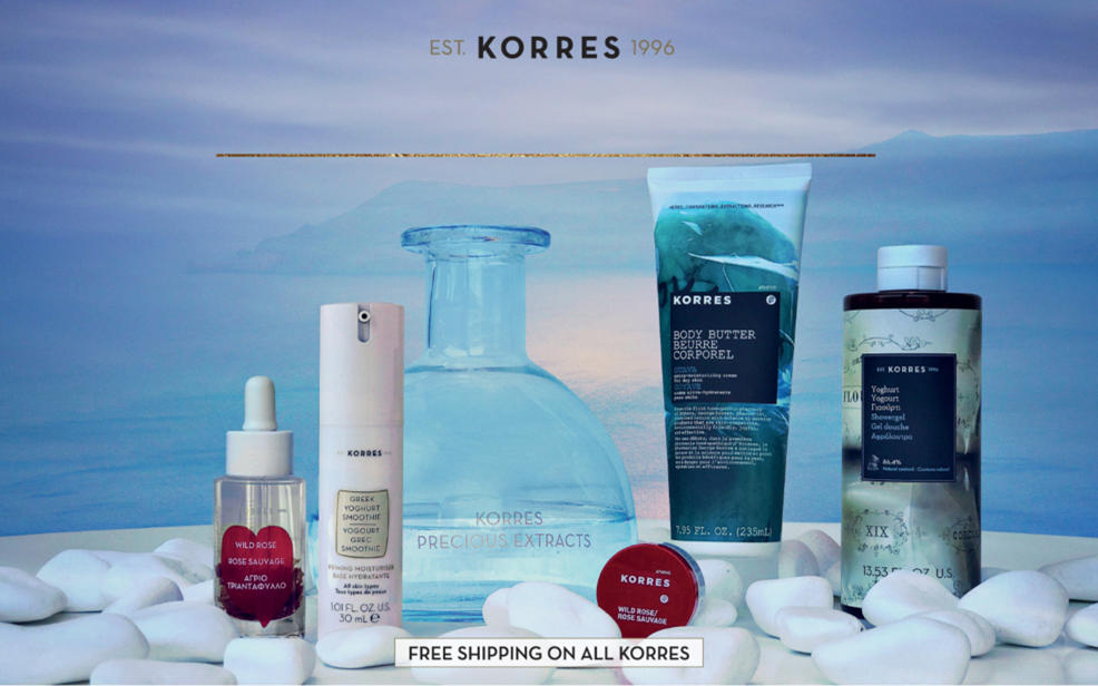 Korres established 1996. Free shipping on all korres