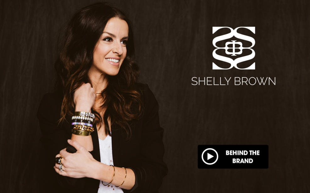 Shelly Brown wears crystal decorated bracelets