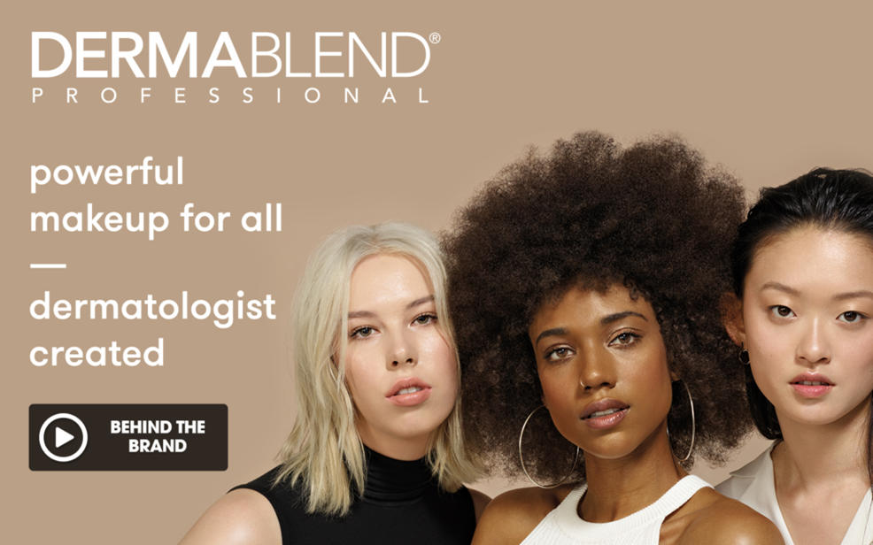 Dermablend Professional. powerful makeup for all. dermatologist created. Behind the Brand