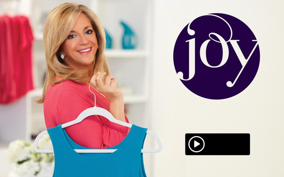Joy Mangano Holding A Huggable Hanger