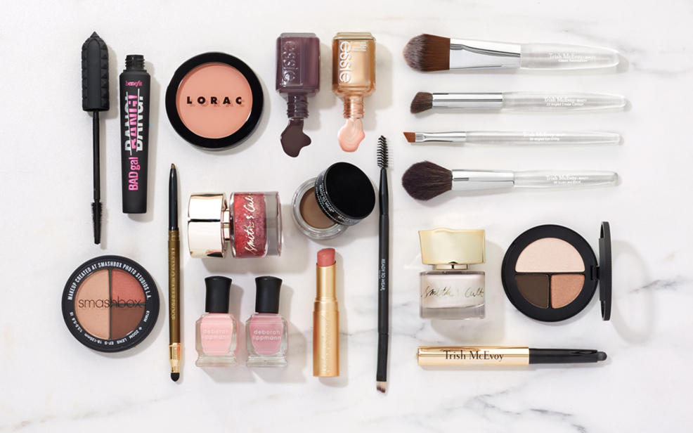 Beauty products sitting on a table
