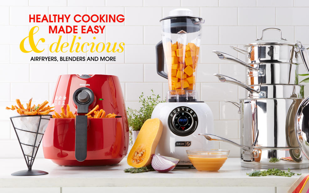Healthy Cooking Made Easy & Delicious. Airfryers, Blenders and more