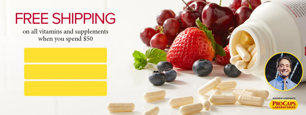 Free shipping on all vitamins and supplements