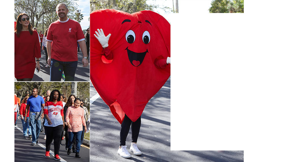 HSN employees participating in the American Heart Association Heart Walk