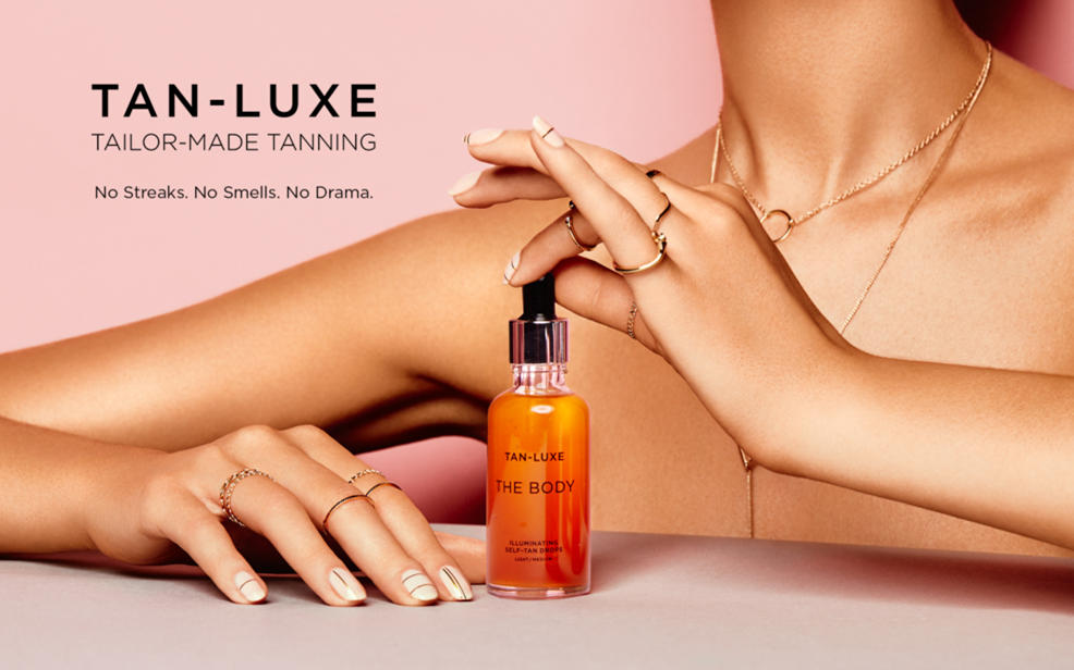 Tan-Luxe. Tailor-made tanning. No streaks. No smells. No Drama.