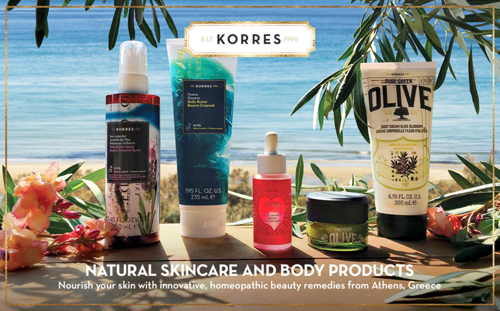 Korres natural skincare and body products