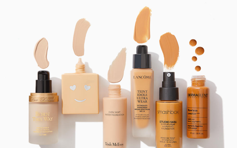 A variety of foundation products