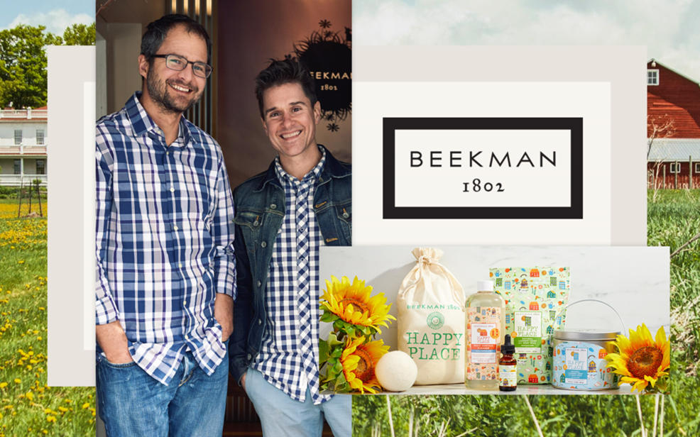 Beekman 1802. The founders and an inset of the products.