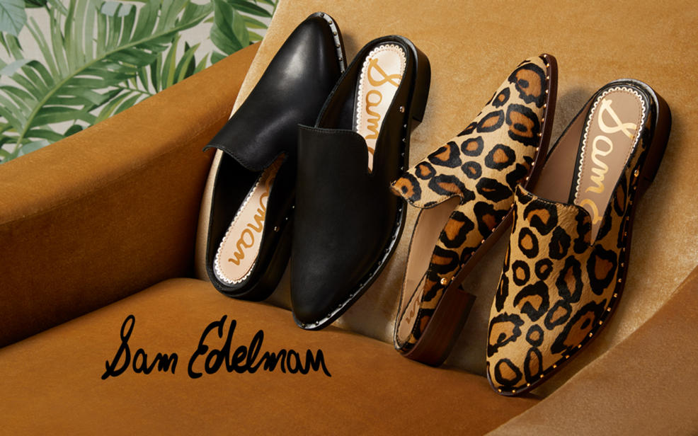 Sam Edelman logo and shoes