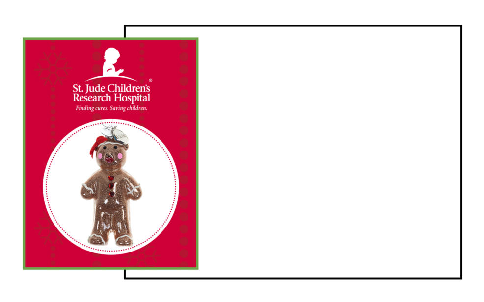 St. Jude Children's Research Hospital. Finding cures. Saving children. A teddy bear ornament.