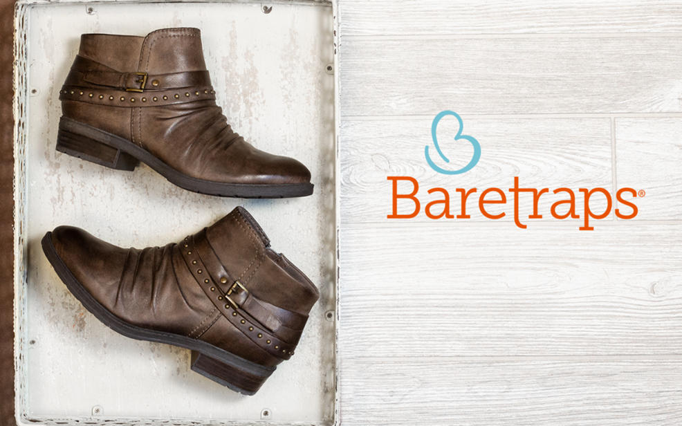 Baretraps logo and boots