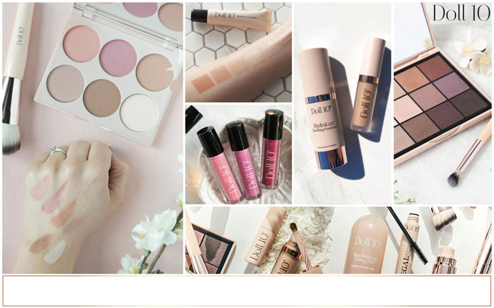 Doll ten. a wide variety of makeup and beauty products