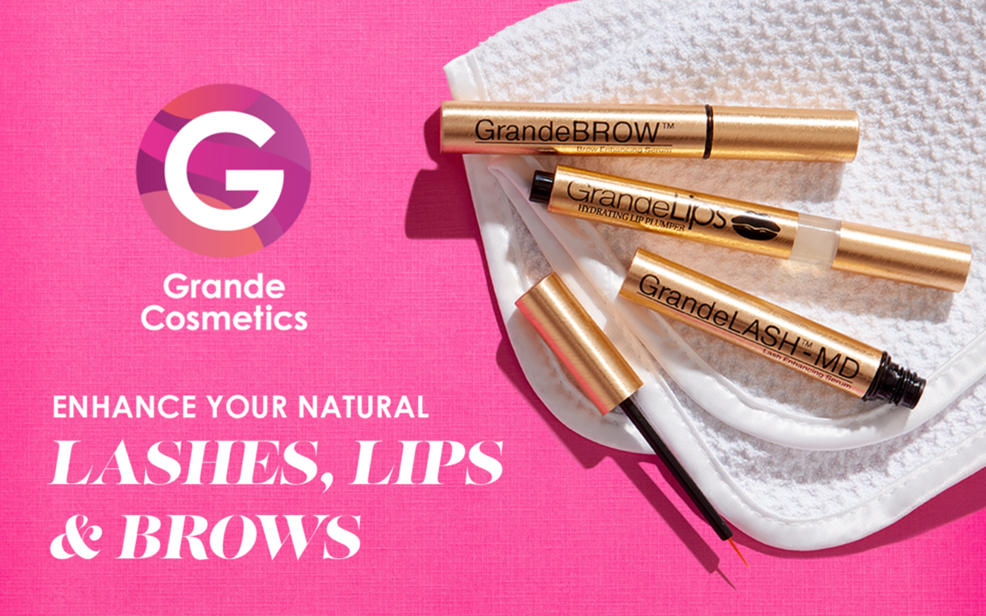 Grande cosmetics. Enhance your natural lashes, lips and brows.