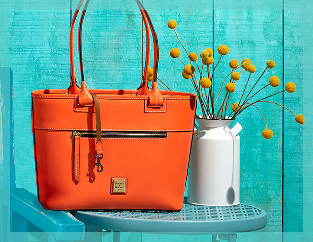 an orange handbag