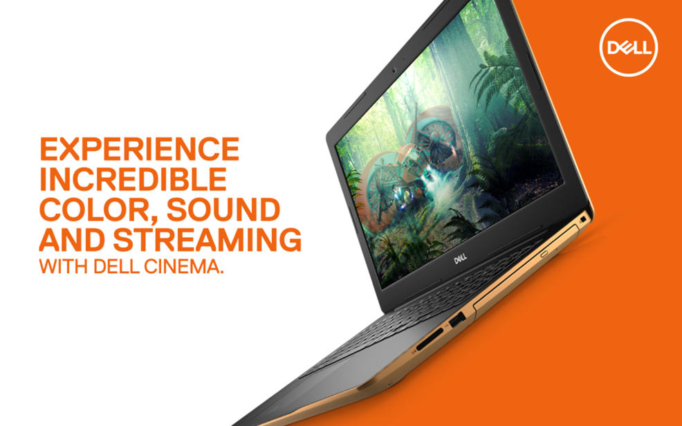 Dell. Experience incredible color, sound and streaming with Dell Cinema.