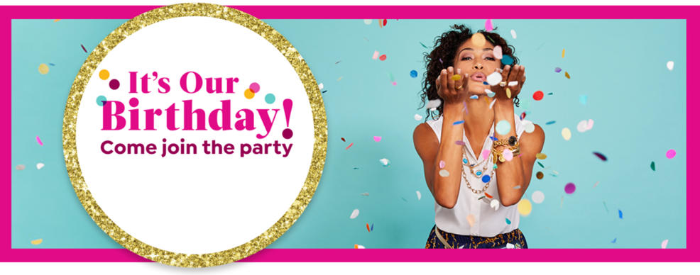 It's Our Birthday! Come join the party