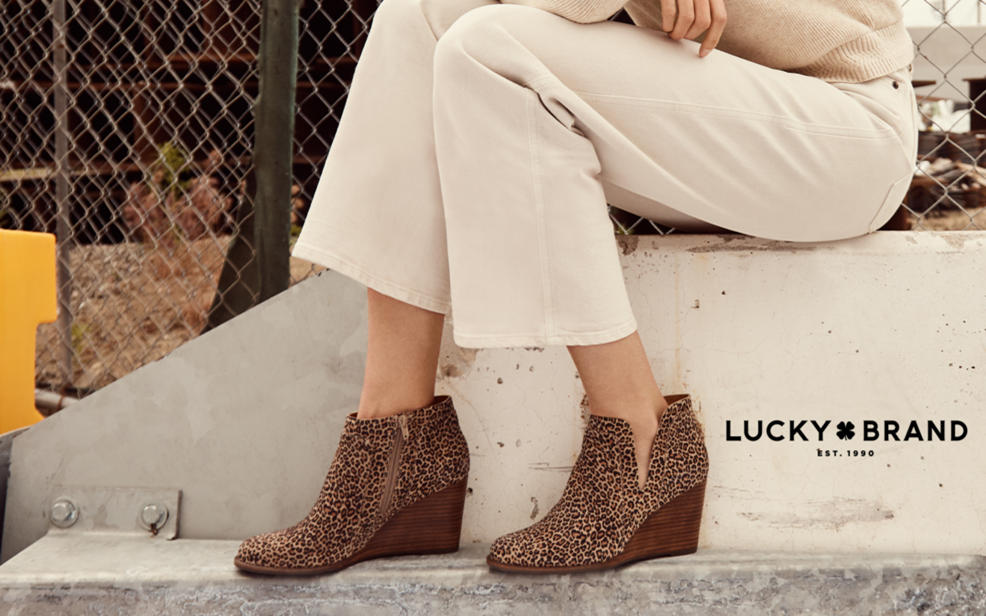 Lucky Brand Women/'s Basel Ankle Booties Natural Leopard Suede Pick A Size