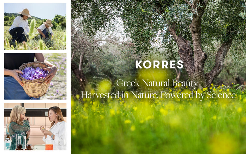 KORRES. Greek Natural Beauty. Harvested in Nature. Powered by Science.