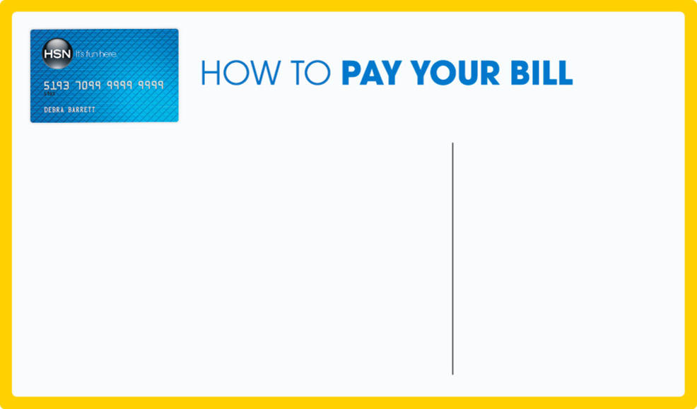 HSN Credit Card How To Pay Your Bill - Cool invoice template free pay amazon store card online