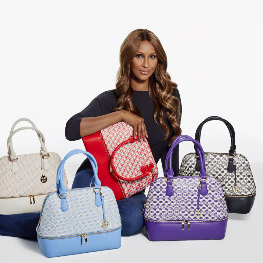 HSN's Today's Special. iman with a satchel