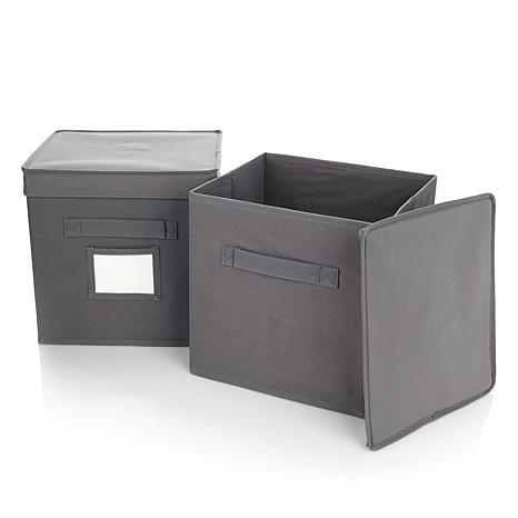Origami Bookshelf Storage Bin 2-pack